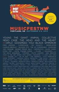 YAWN. I've seen all of these bands, already. (Source: Stereogum.com)